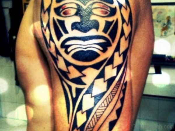 Unique Maori Shoulder Tattoo