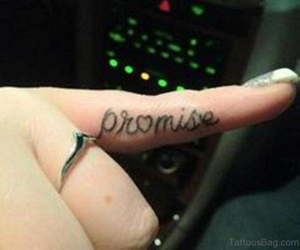 Unique Promise Tattoo