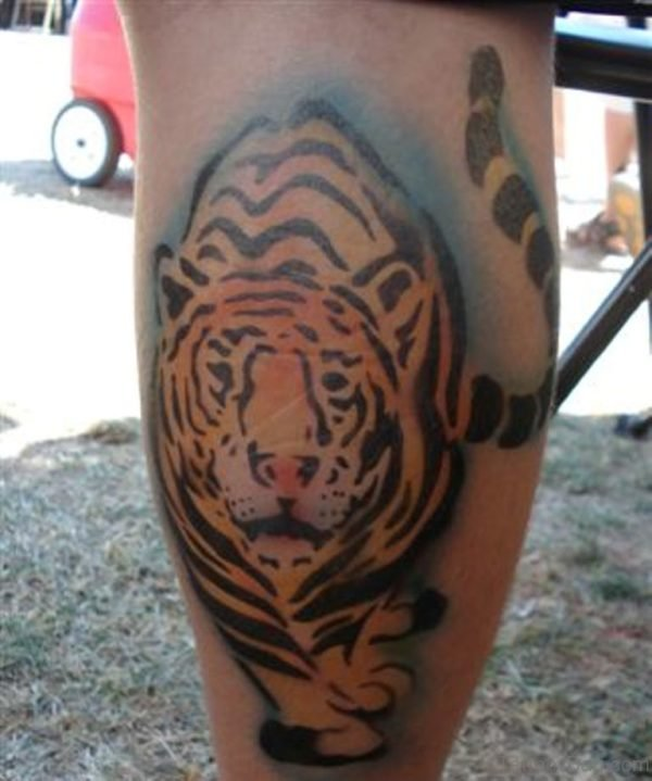 Unique Tiger Tattoo