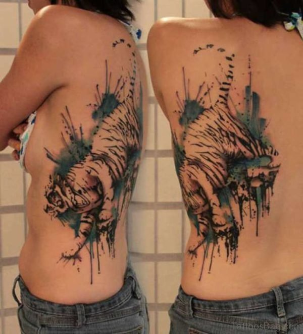 Unique Tiger Tattoo