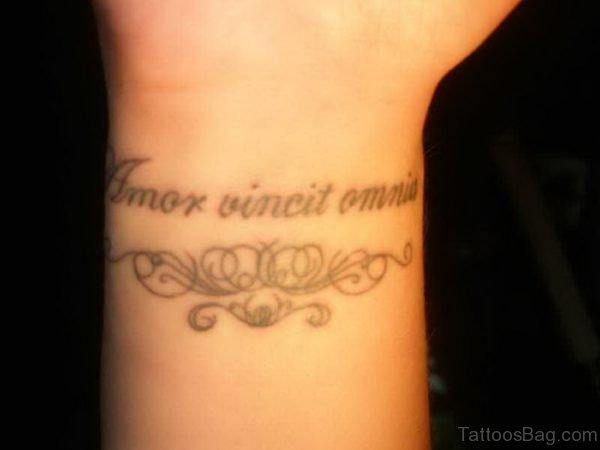 Unique Wording Tattoo