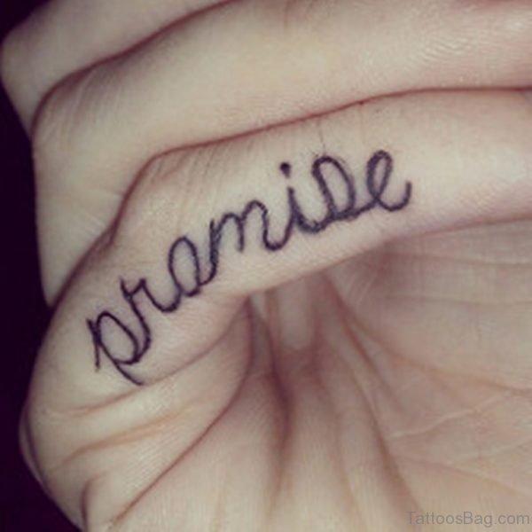 Ultimate Promise Tattoo On Finger