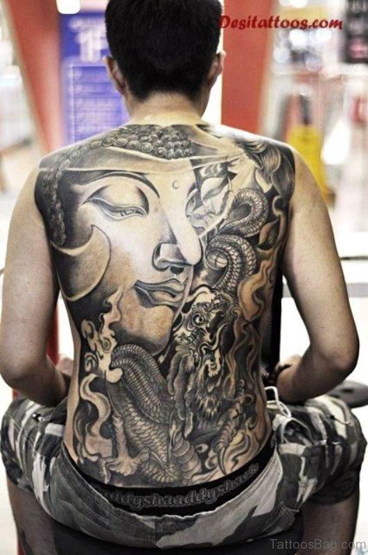 Upper Back Buddha Tattoo