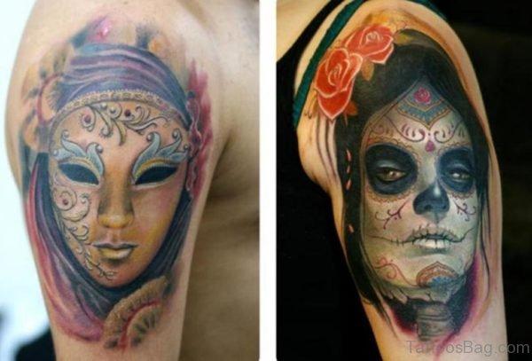 Venetian Mask Tattoo Designs