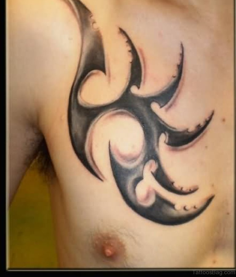 59 great tribal tattoos on chest. Black Bedroom Furniture Sets. Home Design Ideas