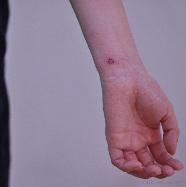 Very Small Heart Tattoo On Wrist
