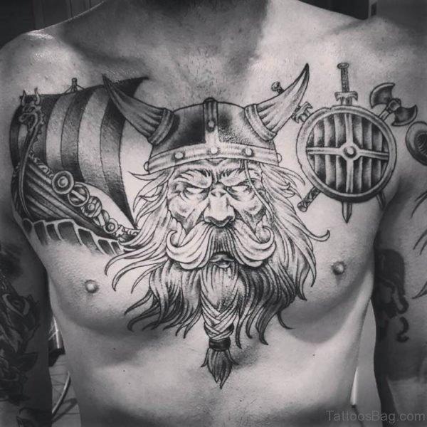 Viking Chest Tattoo