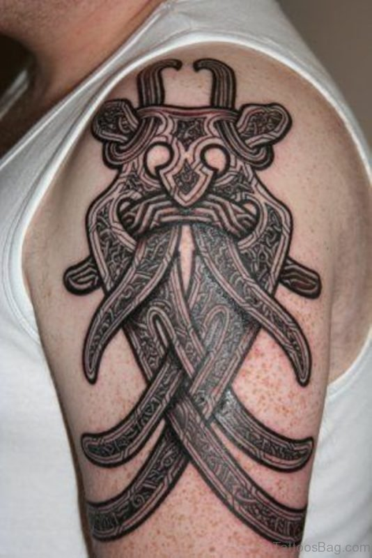 Viking Mask Tattoo