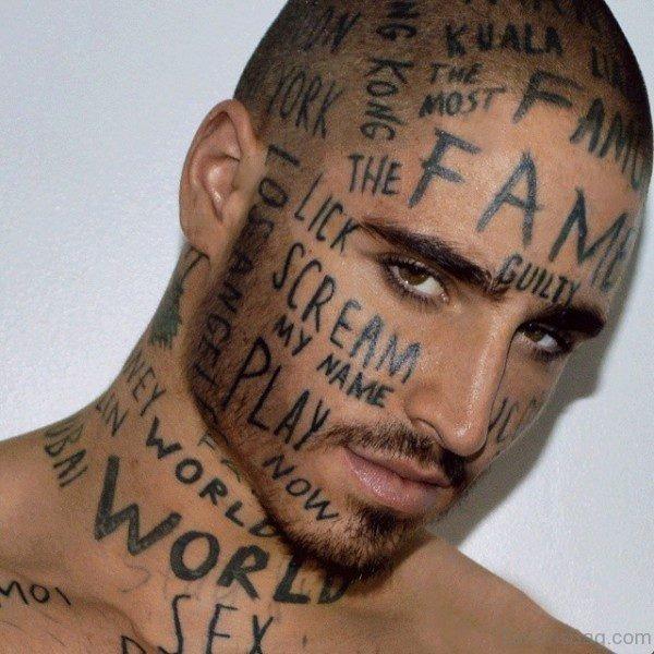 Vin Los Tattoo On Neck