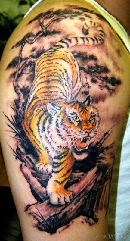 Walking Tiger Tattoo