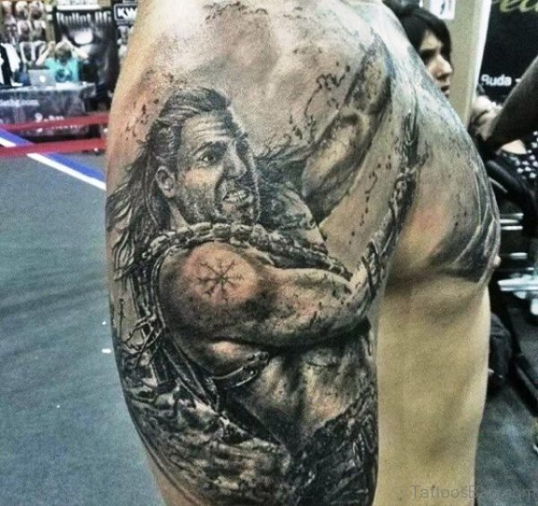 Warrior Shoulder Tattoo