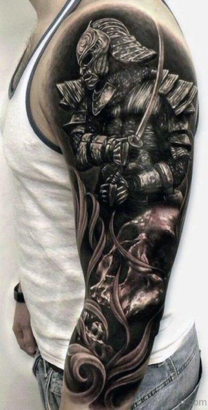 Warrior Sleeve Tattoo