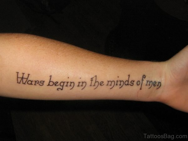 Wars Quote Tattoo On Wrist