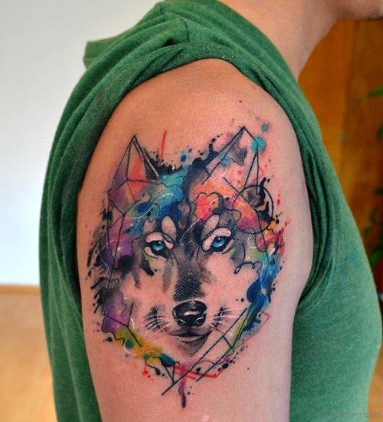 b05c5905cf170 51 Elegant Wolf Tattoos On Shoulder