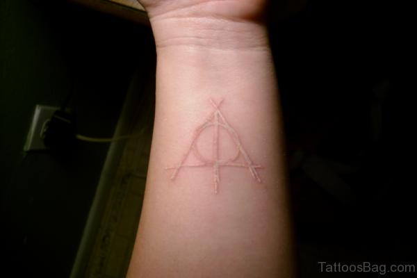White Triangle Tattoo On Wrist