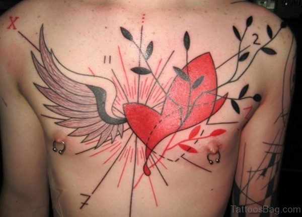 Wing And Heart Tattoo