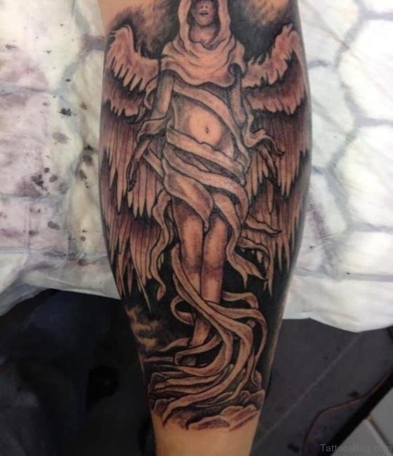Ангел на ноге тату