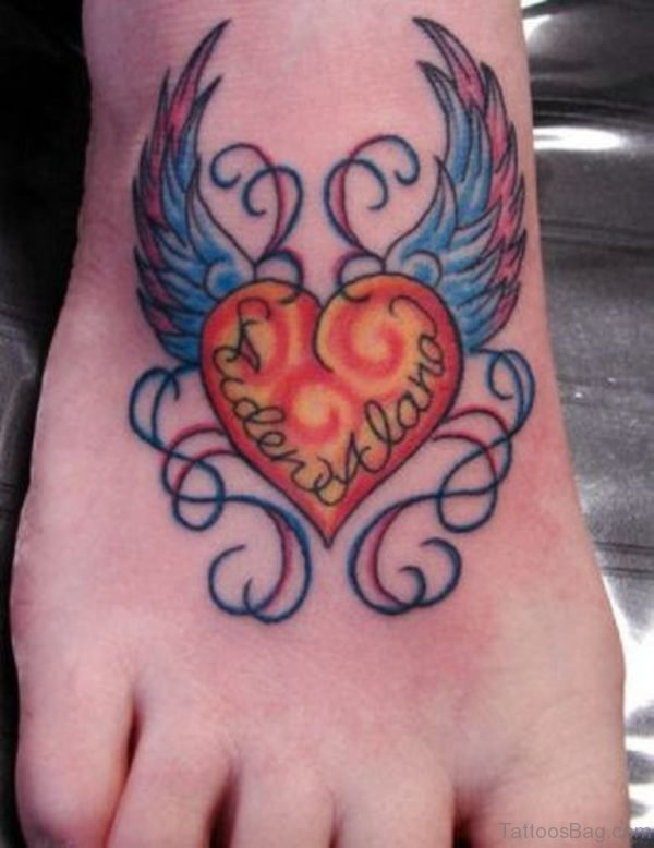 Winged Heart Tattoo 1