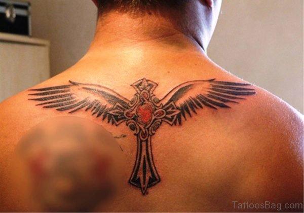 Wings Celtic Cross Tattoo