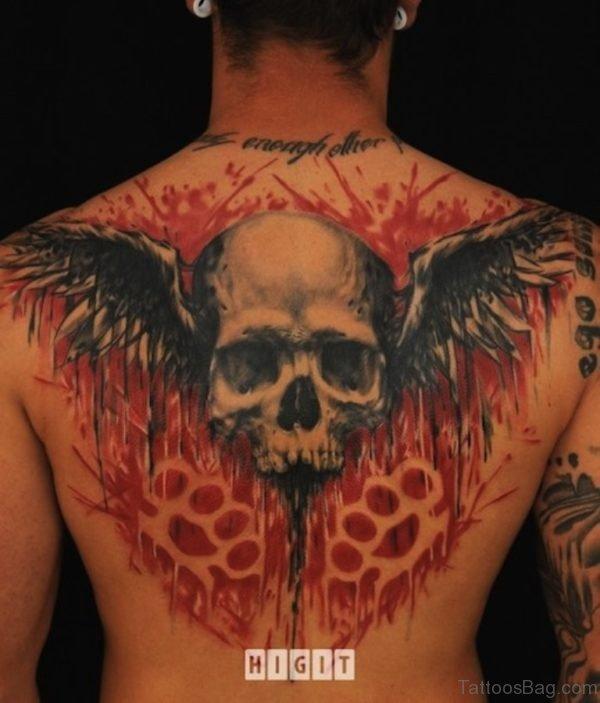 Wings Skull Tattoo