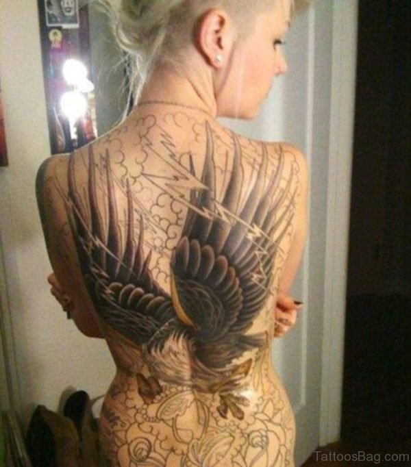 Wings Tattoo On Back