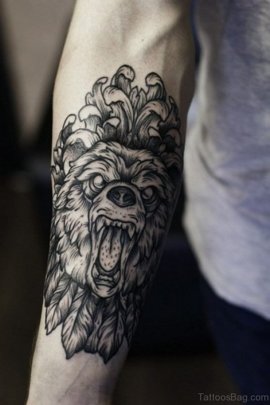 Wolf Tattoo Design On Arm
