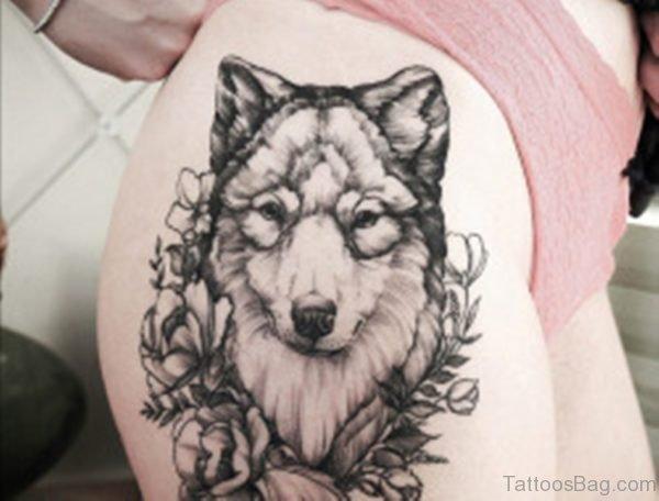 Wolf Tattoo Design On Trhigh