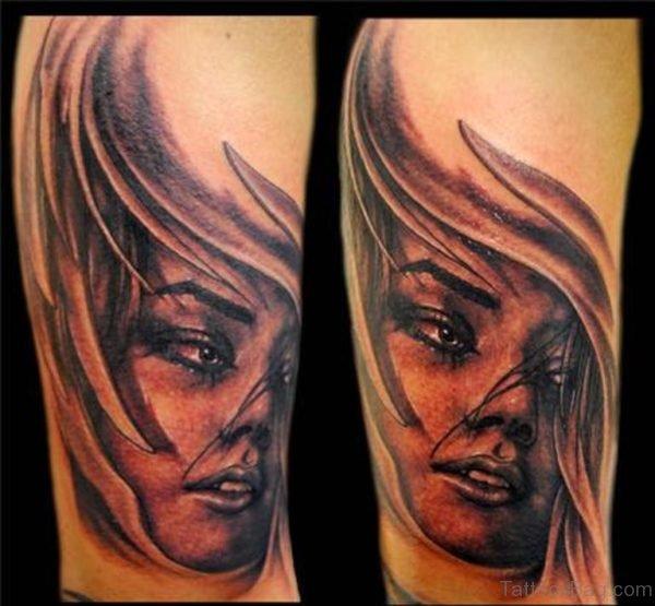 Woman Portrait Tattoo