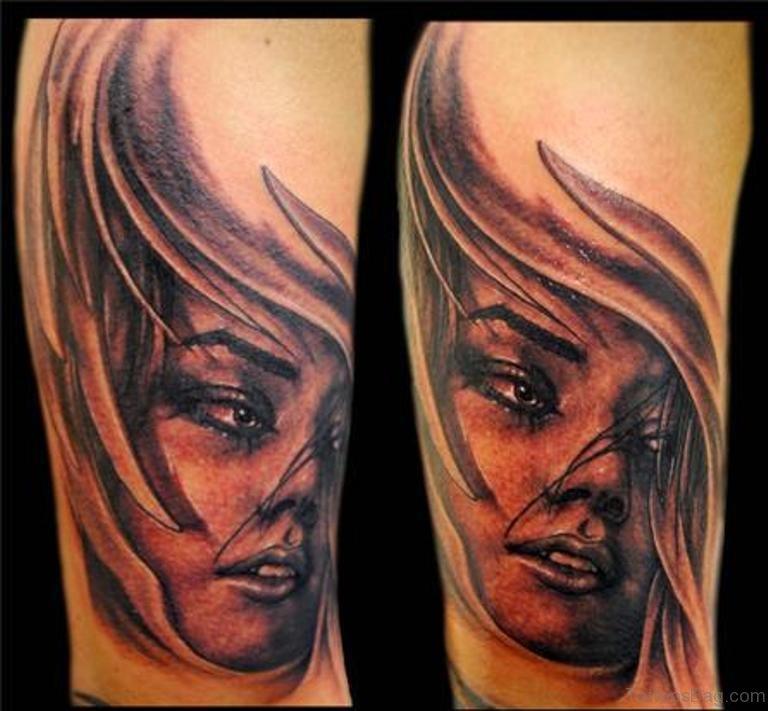 Tattoo Woman Portrait: 62 Elegant Portrait Tattoos Designs On Shoulder