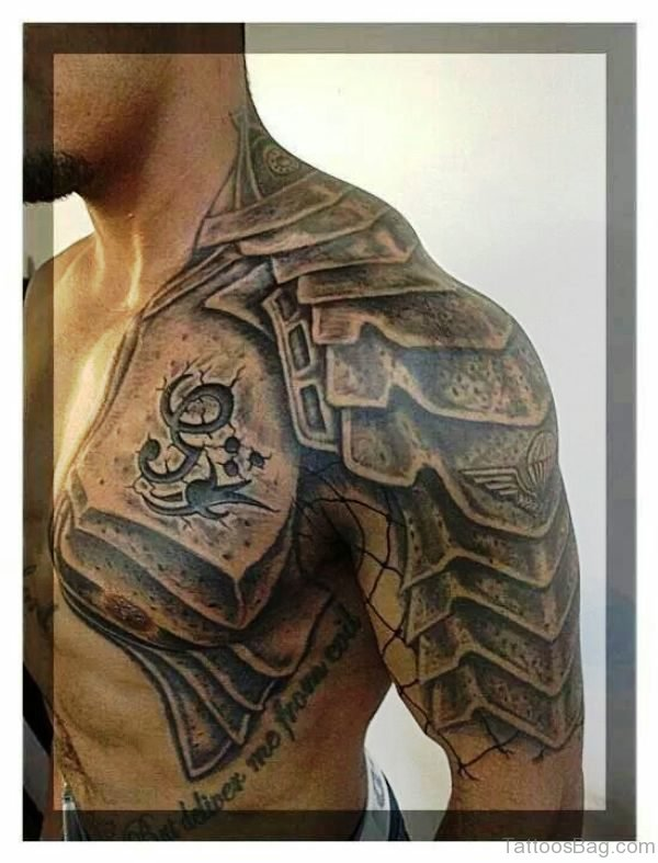 Wonder Armour Shoulder Tattoo