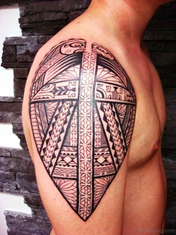 Wonderful Armor Maori Shoulder Tattoo