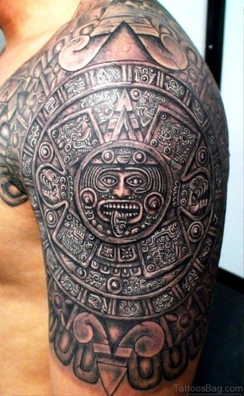 Wonderful Armour Shoulder Tattoo Design