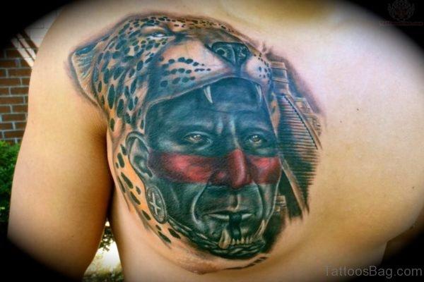 Wonderful Aztec Jaguar Tattoo