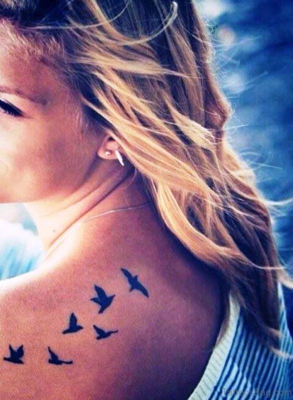 Wonderful Birds Shoulder Tattoo
