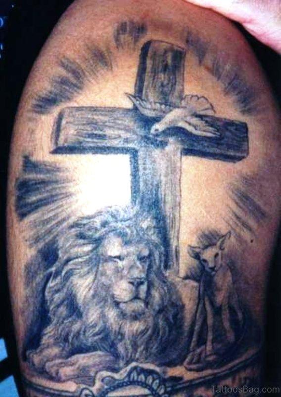 Wonderful Black Cross Tattoo