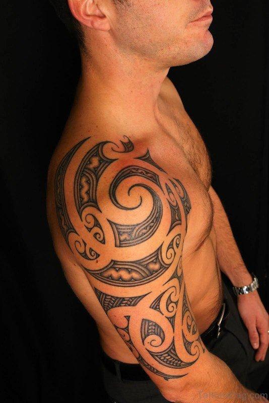 Wonderful Black Maori Tattoo Design