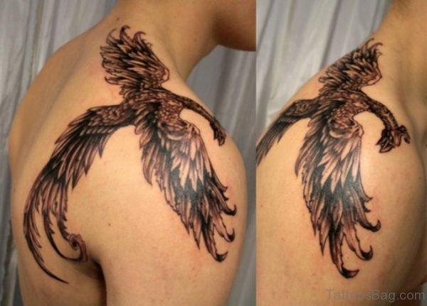 Wonderful Black Phoenix Tattoo