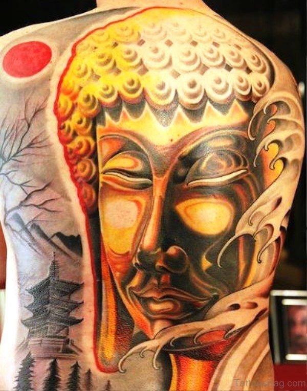 Wonderful Buddha Tattoo Design