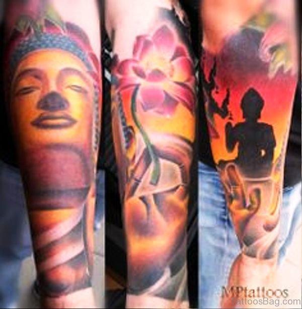 Wonderful Buddha Tattoo Full Sleeve
