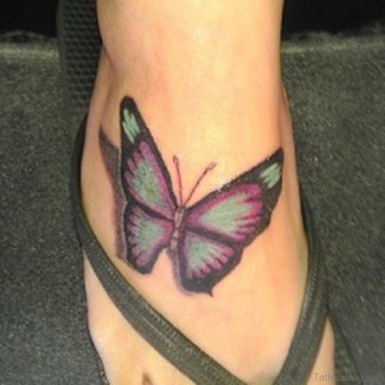My Tattoo Designs Butterfly Foot Tattoos: 50 Fabulous Butterfly Tattoos On Ankle