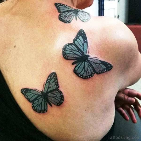 Wonderful Butterfly Tattoo On Shoulder