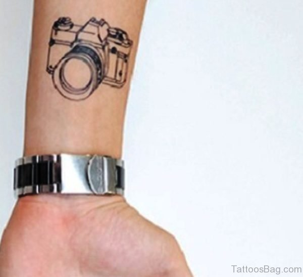 Wonderful Camera Tattoo On Wrist