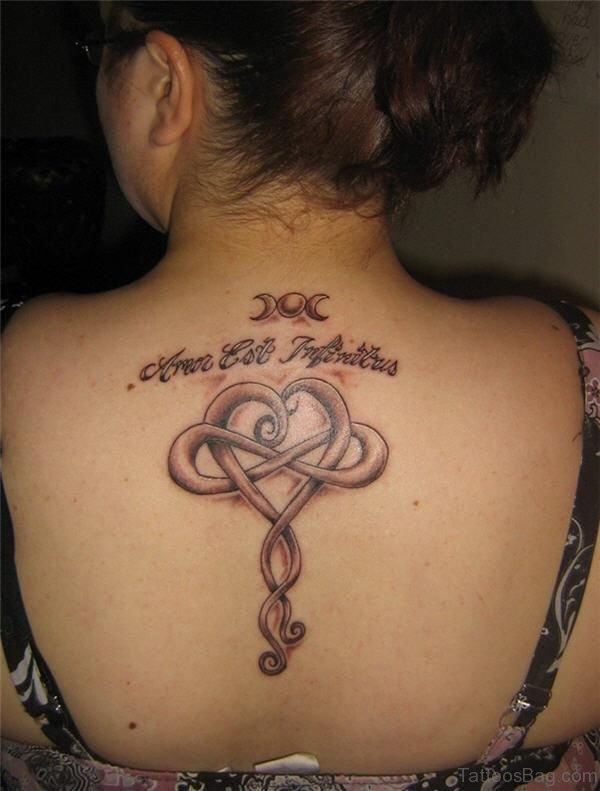 Wonderful Celtic Knot Tattoo On Neck