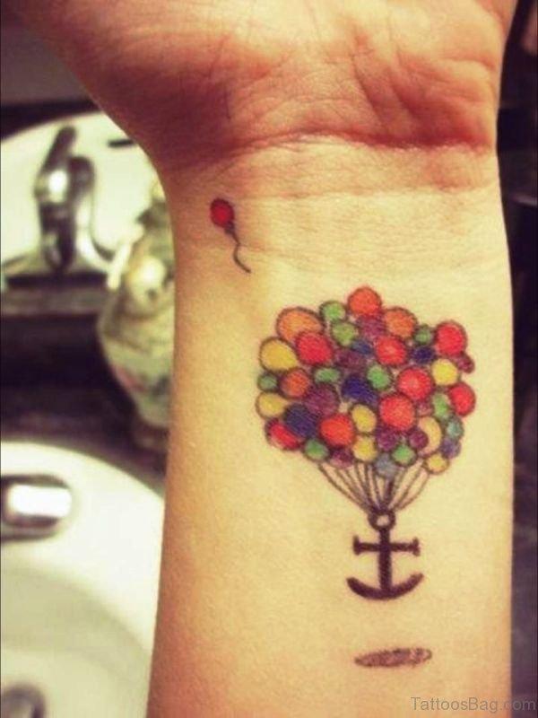 Wonderful Colored Balloons Tattoo