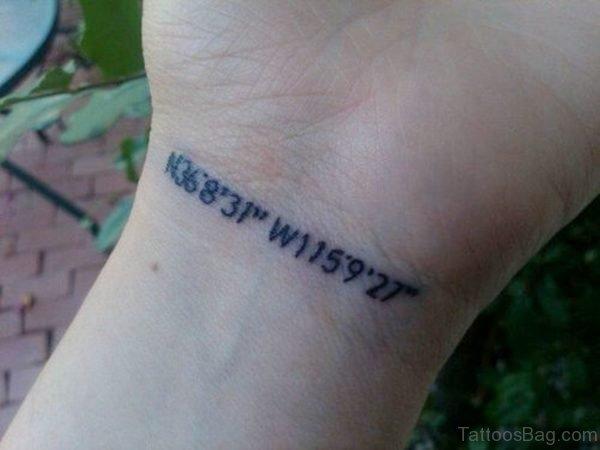 Wonderful Coordinates Wrist Tattoo