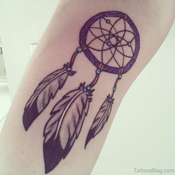 Wonderful Dreamcatcher Tattoo On Wrist