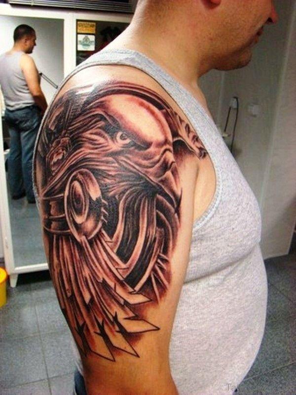 Wonderful Eagle Shoulder Tattoo Design