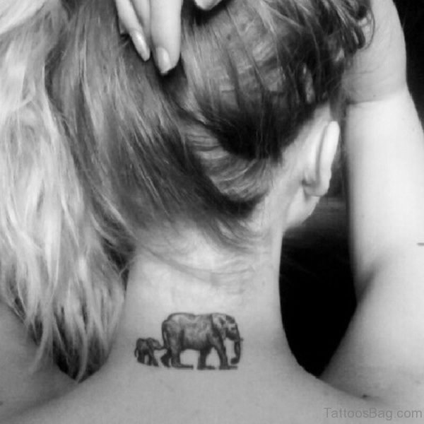 Wonderful Elephant Neck Tattoo