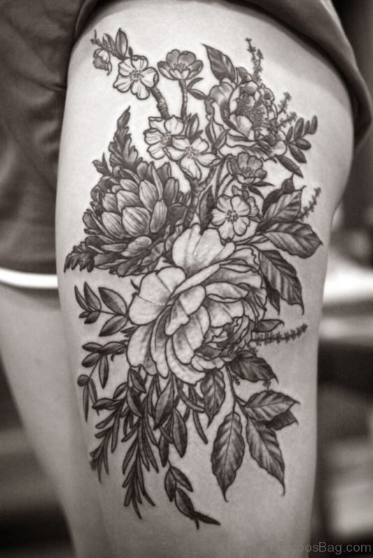 Wonderful Flower Tattoo