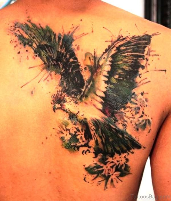 Wonderful Flying Eagle Tattoo Design